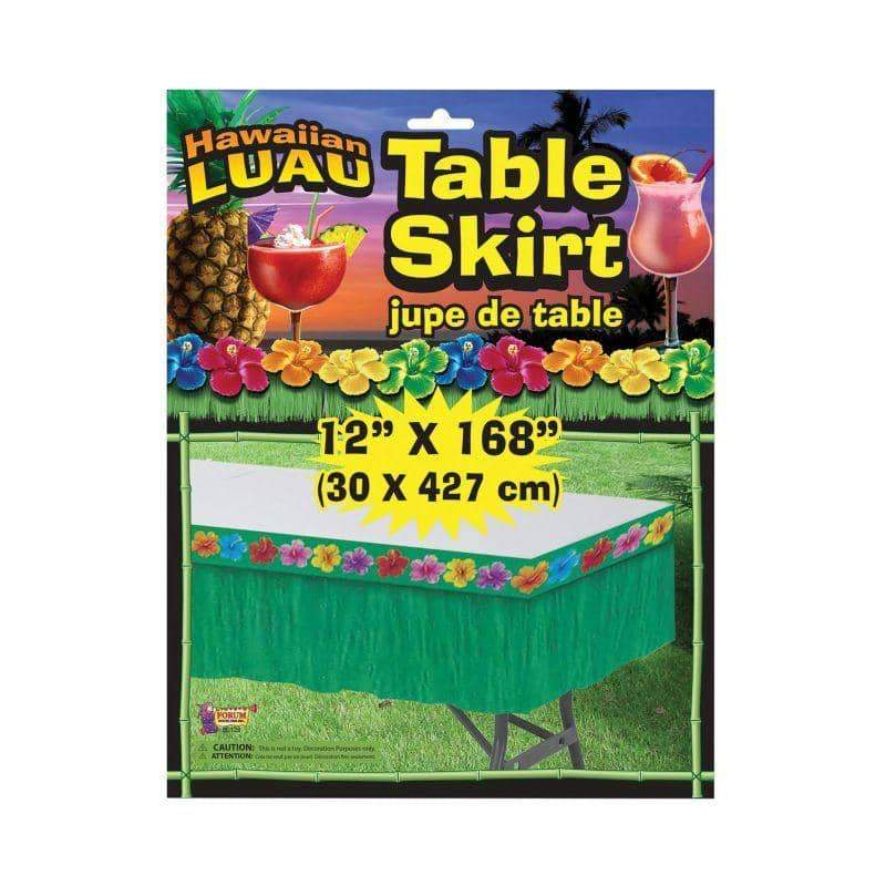 Hawaiian Green Table Skirt