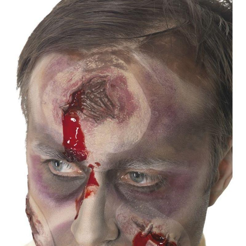 A Hole In The Head Scar Bullet Wound Adult Red - Cosmetics & Disguises Mad Fancy Dress
