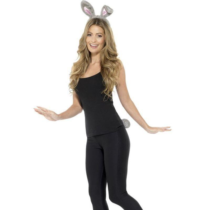 Adult Rabbit Kit Adult Grey - Adult Animal Mad Fancy Dress