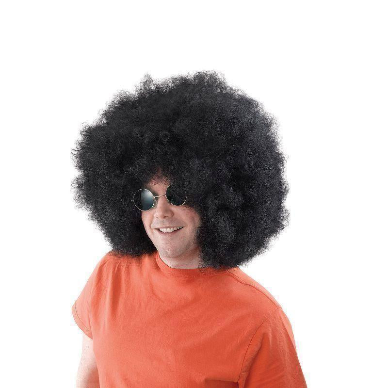 Afro Wig Mega Black |Wigs| Unisex One Size - Mens Wigs Mad Fancy Dress