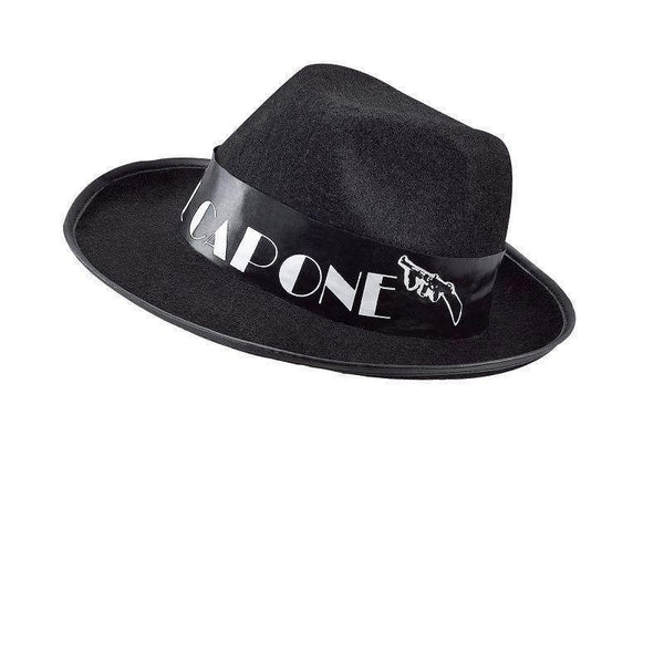 Al Capone Budget Black Felt |Hats| Unisex One Size - Hats Mad Fancy Dress