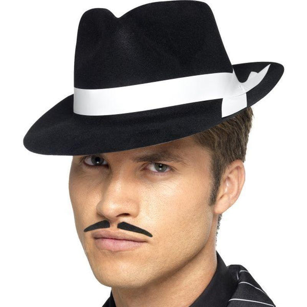 Al Capone Hat Adult Black - 20S Razzle Mad Fancy Dress