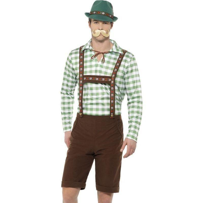 Alpine Bavarian Costume Adult Green/brown - Oktoberfest Fancy Dress Mad Fancy Dress