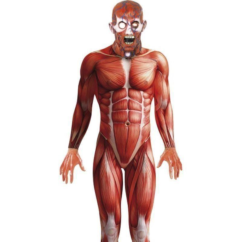 Anatomy Man Costume Adult Black - Halloween Costumes & Accessories Mad Fancy Dress