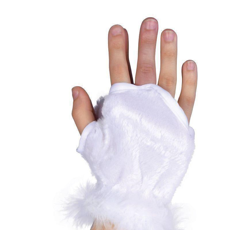 Animal Glovelets White |Costume Accessories| Unisex One Size - Costume Accessories Mad Fancy Dress