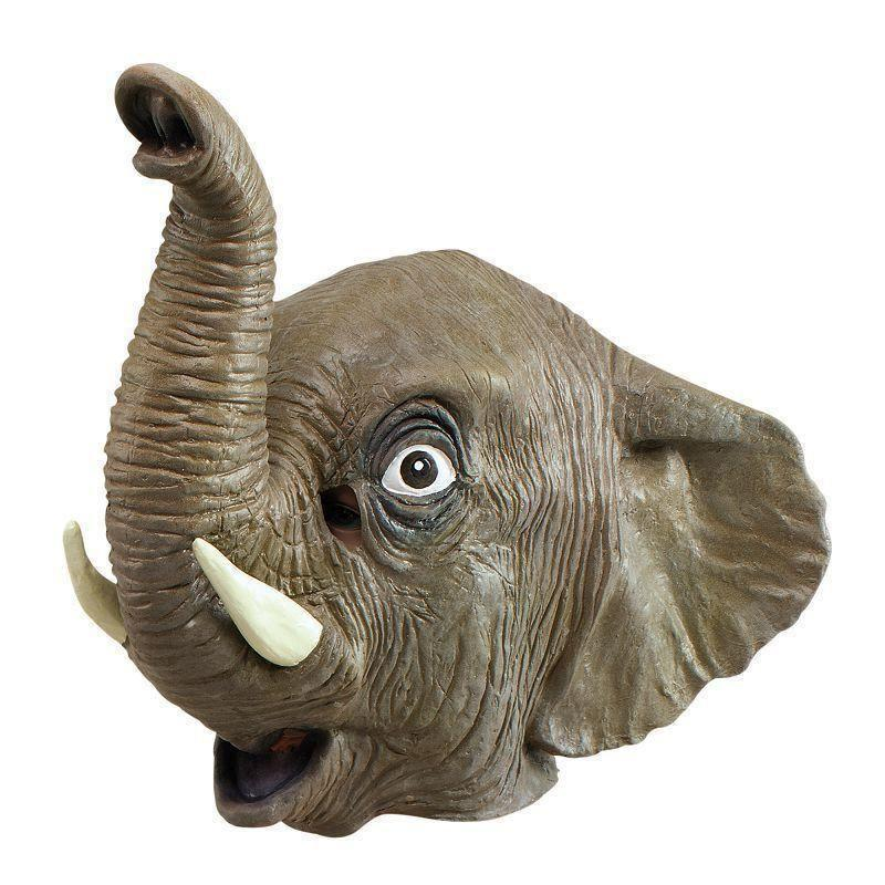 Animal Rubber Ohead Mask Elephant |Rubber Masks| Unisex One Size - Masks Mad Fancy Dress