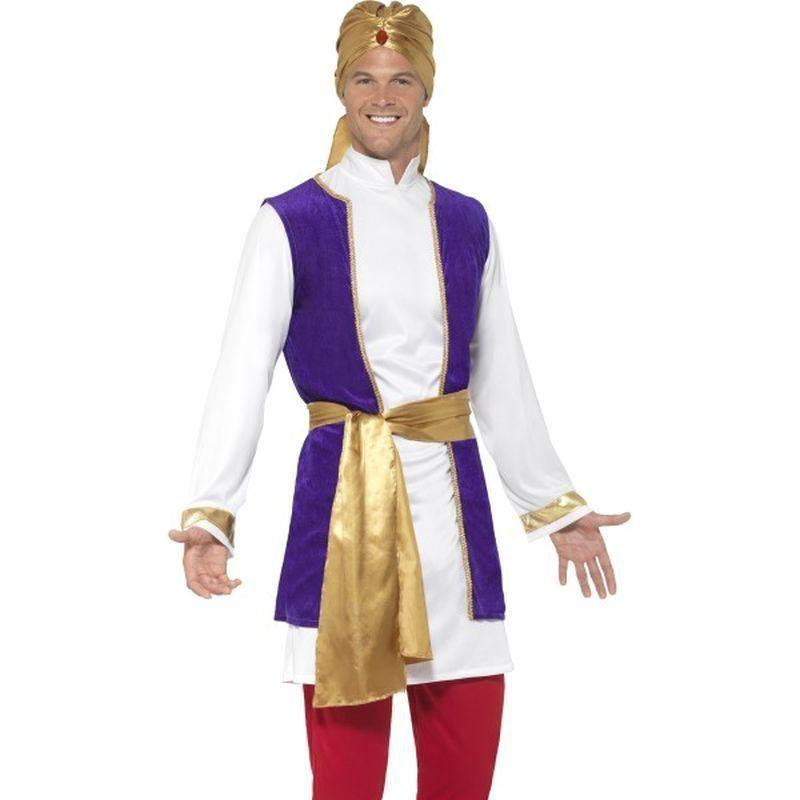 Arabian Prince Costume Adult Black - Around The World Mad Fancy Dress