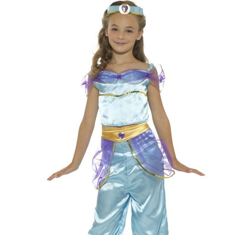 Arabian Princess Costume Kids Blue - Girls Costumes Mad Fancy Dress