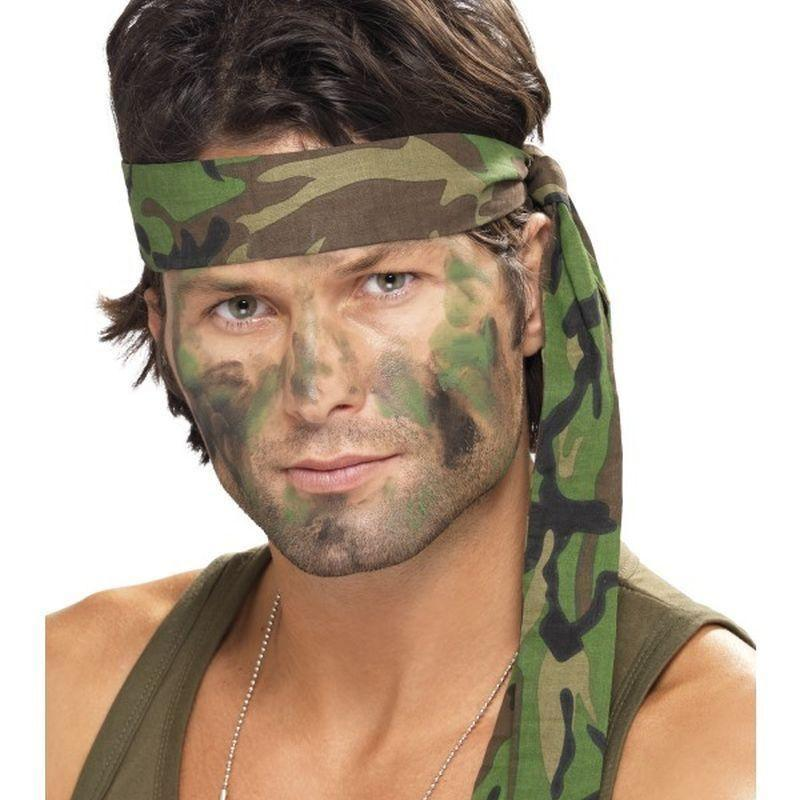 Army Headband Adult Camouflage - Land Sea & Air Forces Mad Fancy Dress