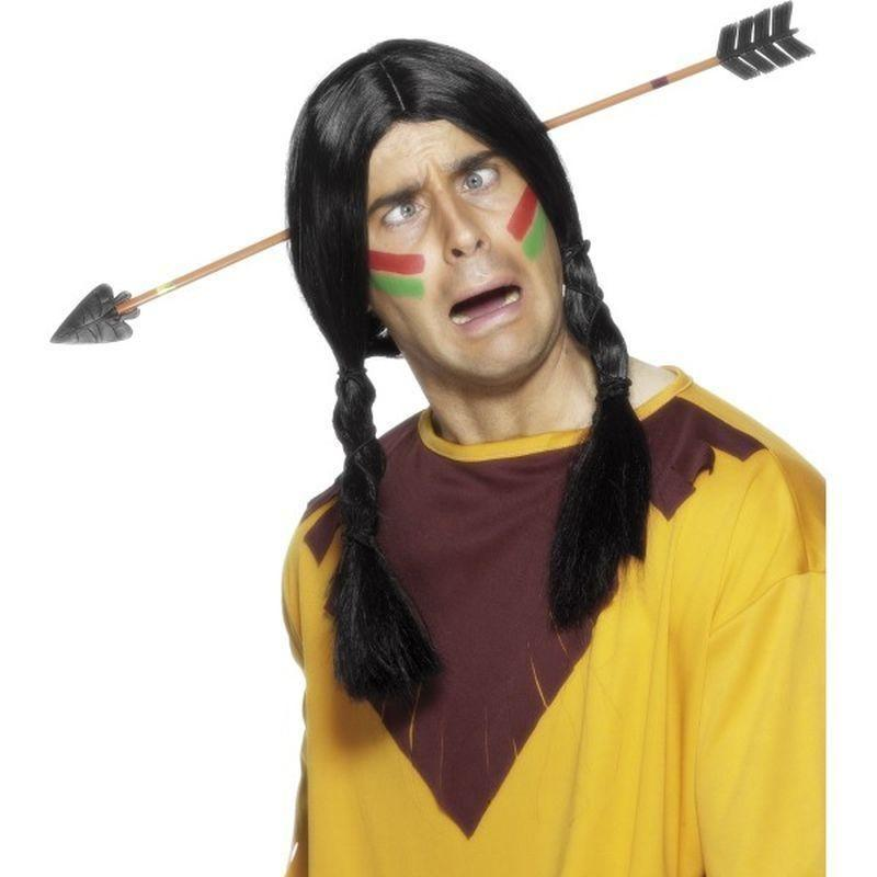 Arrow Through The Head Adult Yellow - Cowboys & Indians Mad Fancy Dress