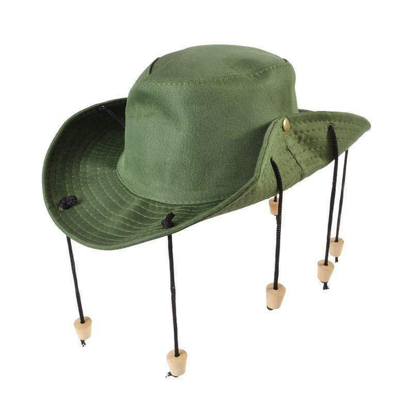 Aussie Outback Hat With Corks |Hats| Unisex One Size - Hats Mad Fancy Dress