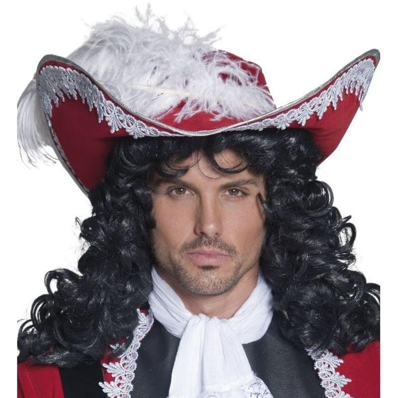 Authentic Pirate Hat Adult Red - Pirate Mad Fancy Dress