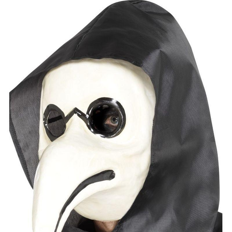 Authentic Plague Doctor Mask Adult White - Halloween Costumes & Accessories Mad Fancy Dress