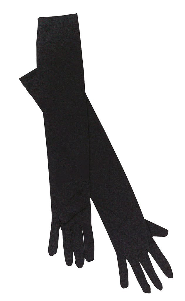 Gloves Opera Black Fancy Dress Costume Accessories Womens One Size