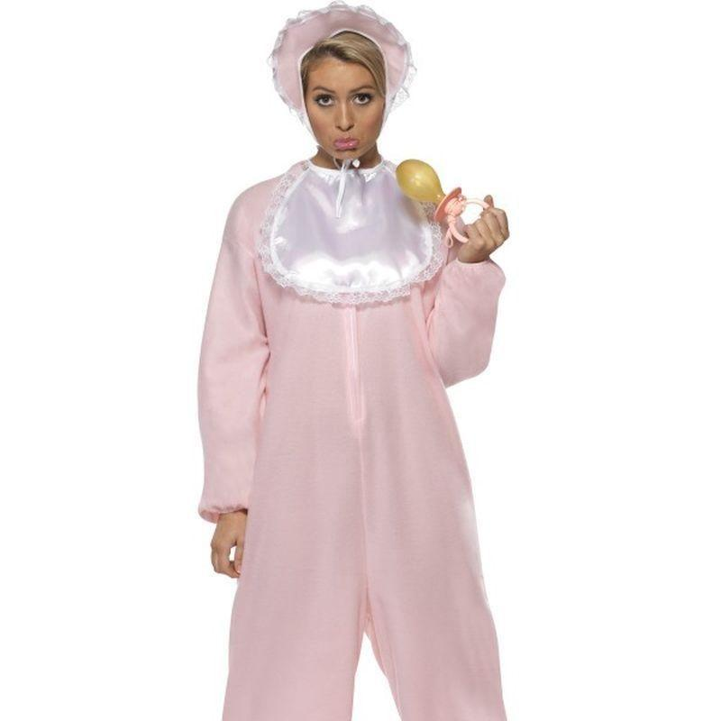 Baby Romper Costume Adult Pink - Comedy & Clown Mad Fancy Dress