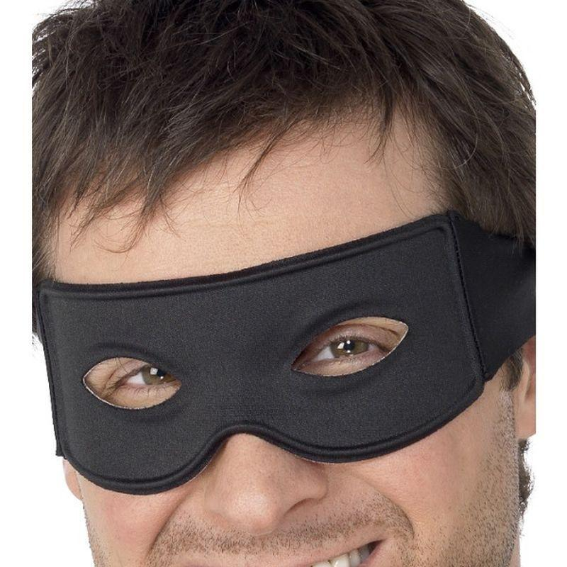 Bandit Eyemask And Tie Scarf Adult Black - Eyemasks Mad Fancy Dress