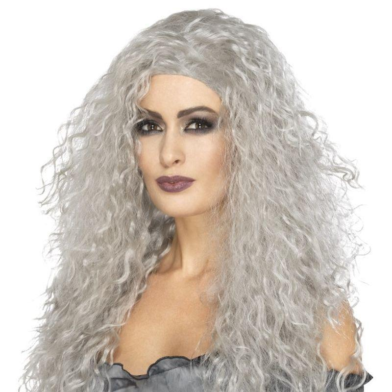 Banshee Wig Adult Grey - Halloween Costumes & Accessories Mad Fancy Dress