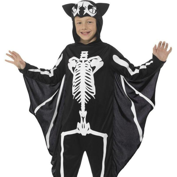 Bat Skeleton Costume Kids Black/white - Halloween Costumes & Accessories Mad Fancy Dress