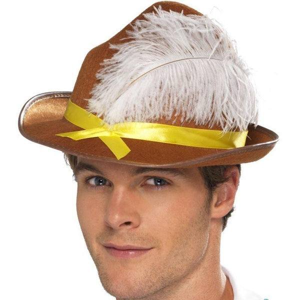 Bavarian Hat Adult Brown - Around The World Mad Fancy Dress