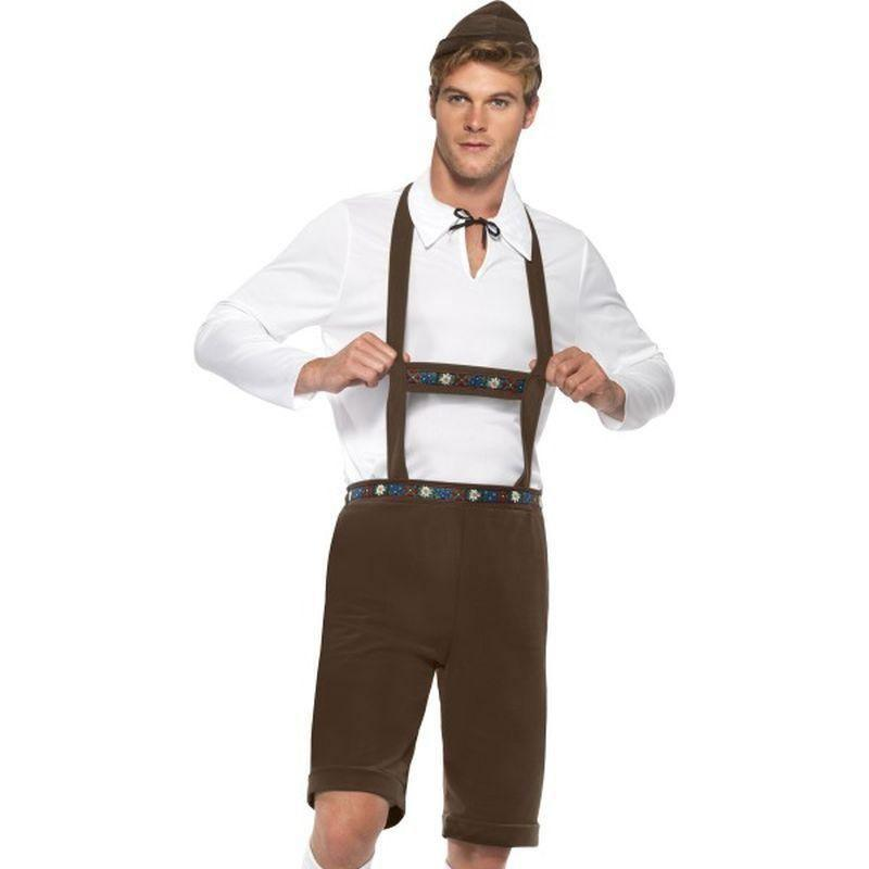 Bavarian Man Costume Adult Brown/white - Around The World Mad Fancy Dress