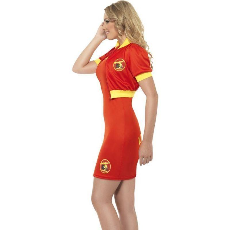 Baywatch Beach Lifeguard Costume Adult Red/yellow - Baywatch Licensed Fancy Dress Mad Fancy Dress