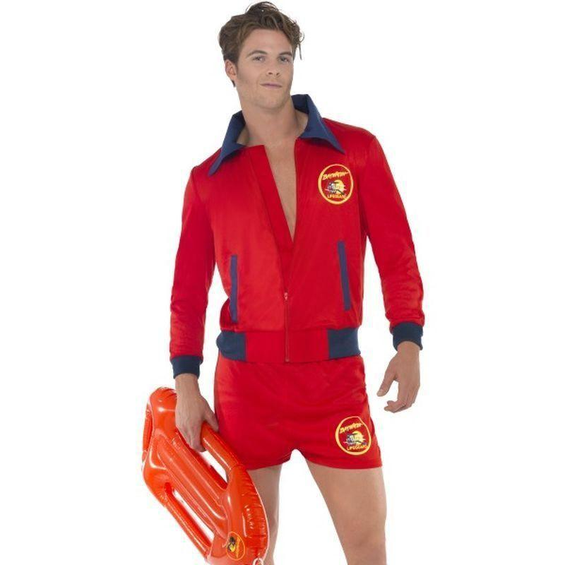 Baywatch Lifeguard Costume Adult Red - Baywatch Licensed Fancy Dress Mad Fancy Dress