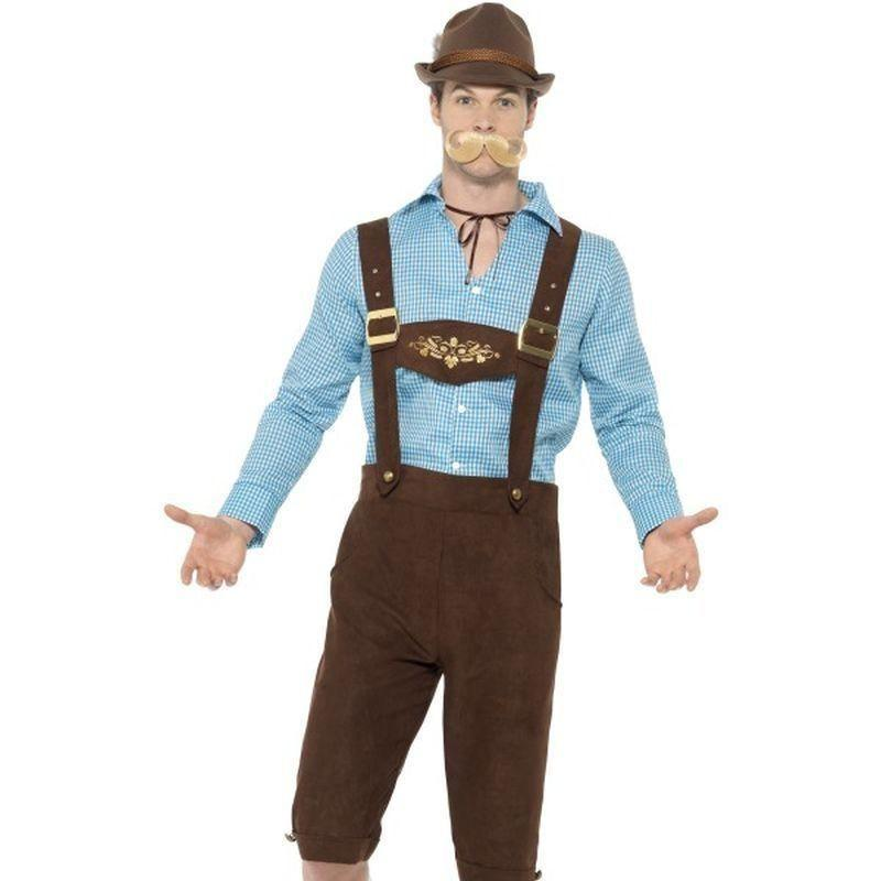 Beer Fest Costume Adult Blue/black - Oktoberfest Fancy Dress Mad Fancy Dress