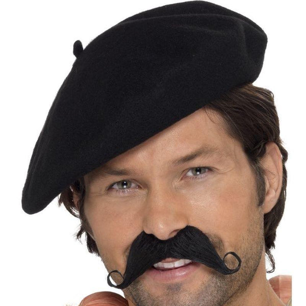 Beret Adult Black - Around The World Mad Fancy Dress
