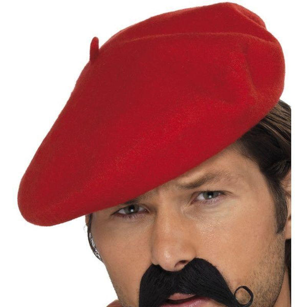 Beret Adult Red - Around The World Mad Fancy Dress