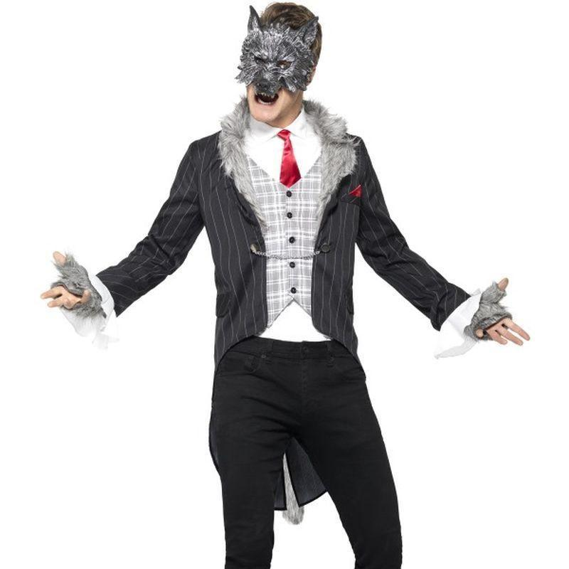 Big Bad Wolf Costume Deluxe Adult Grey - Faries Wings & Wands Mad Fancy Dress