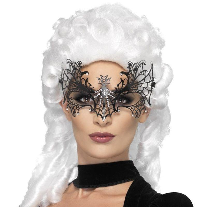 Black Widow Web Eyemask Adult Black - Halloween Costumes & Accessories Mad Fancy Dress