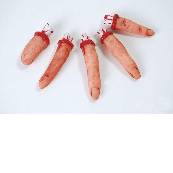 Bloody Fingers |5| Realistic |General Jokes| Unisex One Size - Practical Jokes Mad Fancy Dress