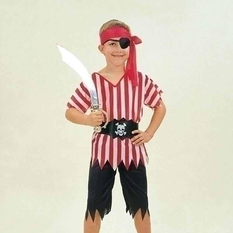 Boys Pirate Boy Budget |Large| Childrens Costumes Male Large 9 12 Years Halloween Costume - Boys Costumes Mad Fancy Dress