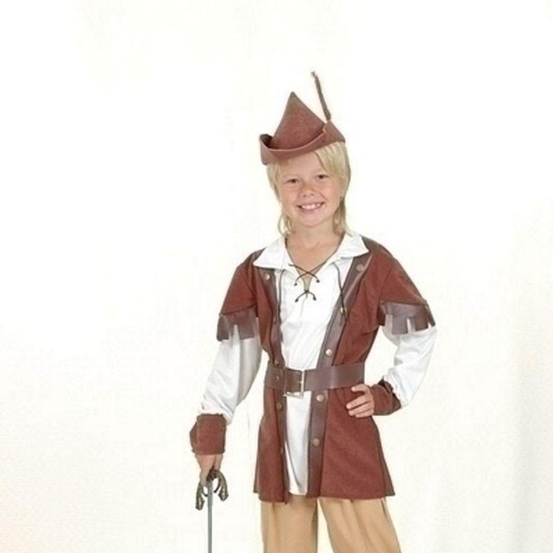Boys Robin Hood Boy Deluxe |Large| Childrens Costumes Male Large 9 12 Years Halloween Costume - Boys Costumes Mad Fancy Dress