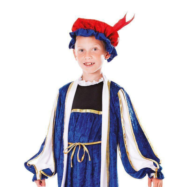 Boys Tudor Boy With Hat |128Cm| Childrens Costumes Male 128Cm Halloween Costume - Boys Costumes Mad Fancy Dress