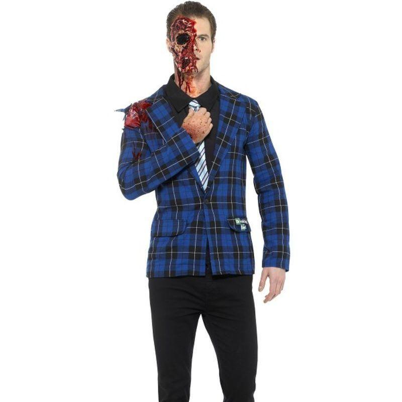 Breaking Bad Gustavo Fring Costume Adult Blue - Breaking Bad Licensed Fancy Dress Mad Fancy Dress