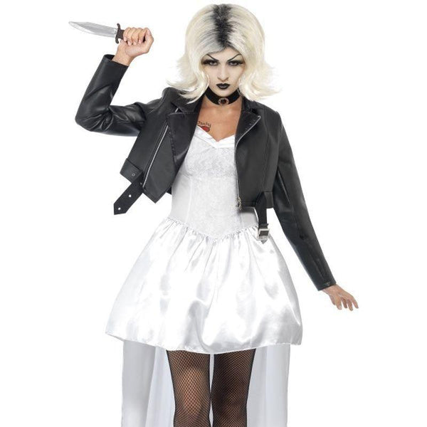 Bride Of Chucky Tiffany Costume Adult White - Chucky Licensed Fancy Dress Mad Fancy Dress
