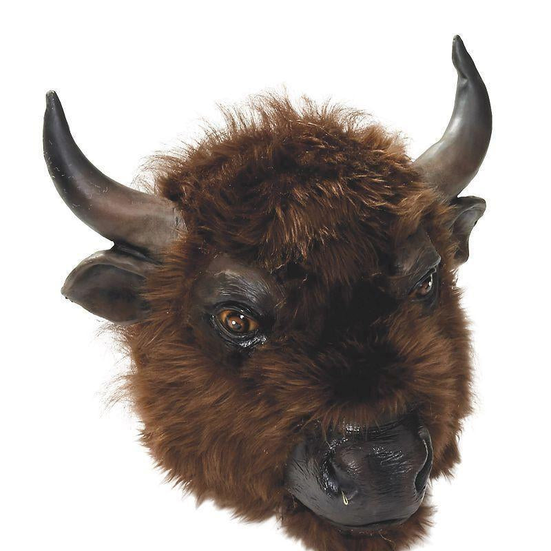 Buffalo Mask |Rubber Masks| Male One Size - Masks Mad Fancy Dress