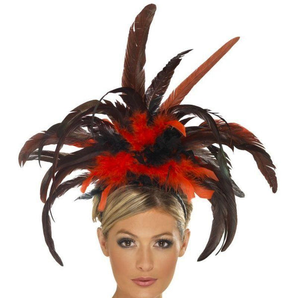 Burlesque Headband Adult Black/red - 20S Razzle Mad Fancy Dress