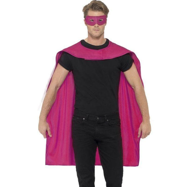 Cape Adult Pink - Heroes & Role Model Mad Fancy Dress