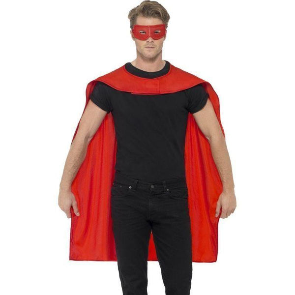 Cape Adult Red - Heroes & Role Model Mad Fancy Dress