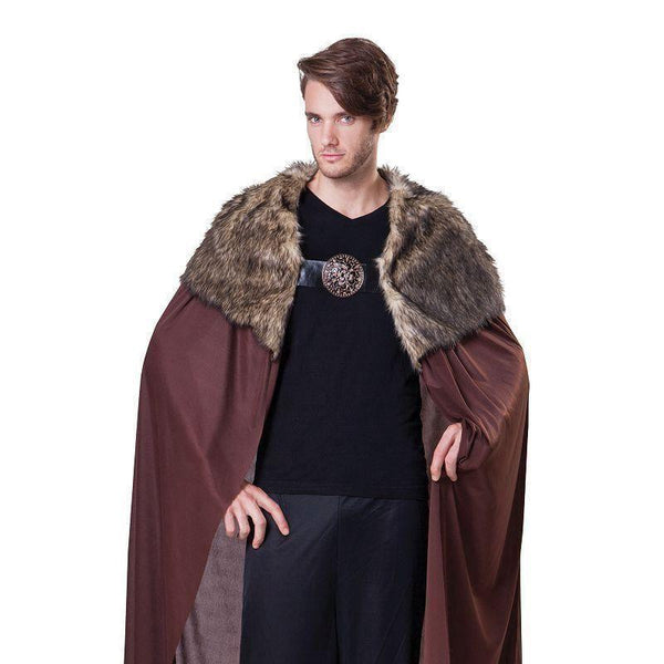 Cape Deluxe Mens With Plush Collar |Adult Costumes| Male One Size Fits Most - Generic Mens Costumes Mad Fancy Dress