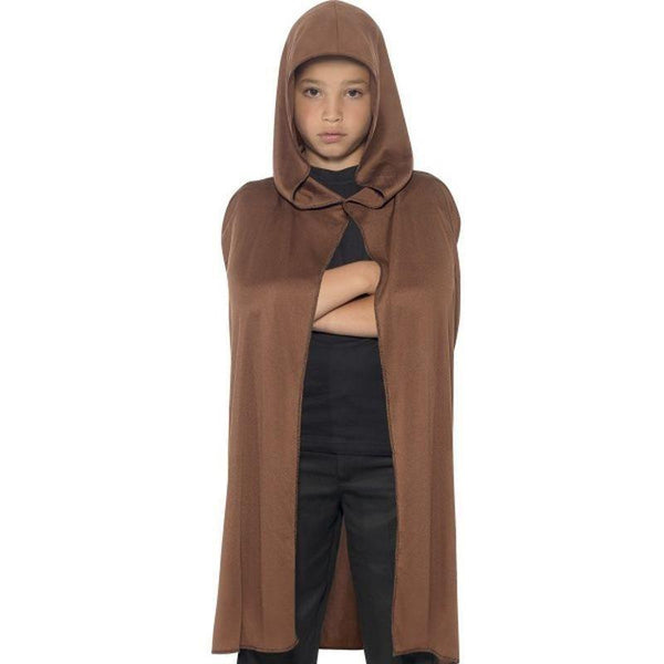 Cape Hooded Kids Brown - Boys Costumes Mad Fancy Dress