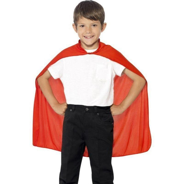 Cape Kids Red - Boys Costumes Mad Fancy Dress