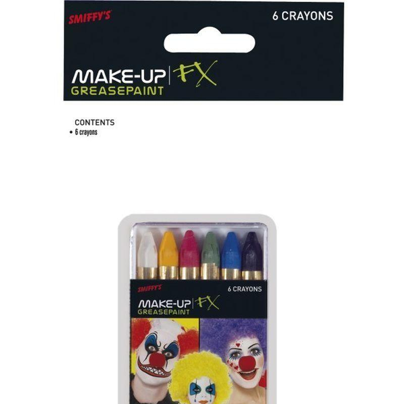 Carnival Greasepaints Adult 6 Assorted - Cosmetics & Disguises Mad Fancy Dress
