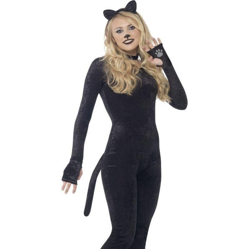Cat Costume Kids Black - Halloween Costumes & Accessories Mad Fancy Dress