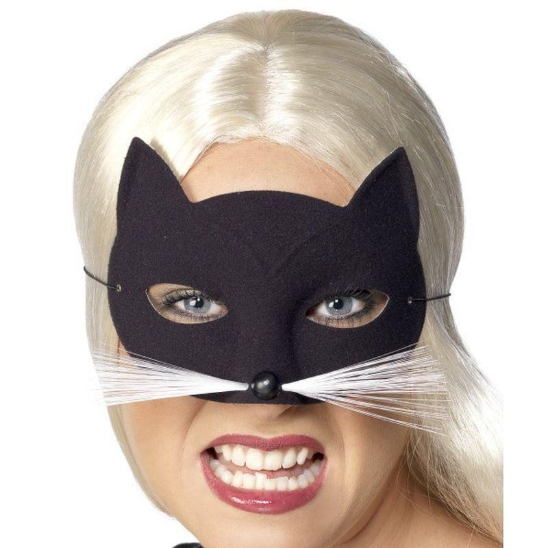 Cat Eyemask Adult Black - Eyemasks Mad Fancy Dress