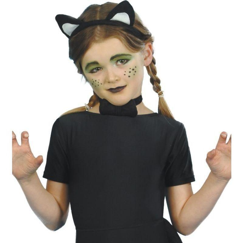 Cat Instant Set Child Kids Black - Childrens Animal Costumes Mad Fancy Dress