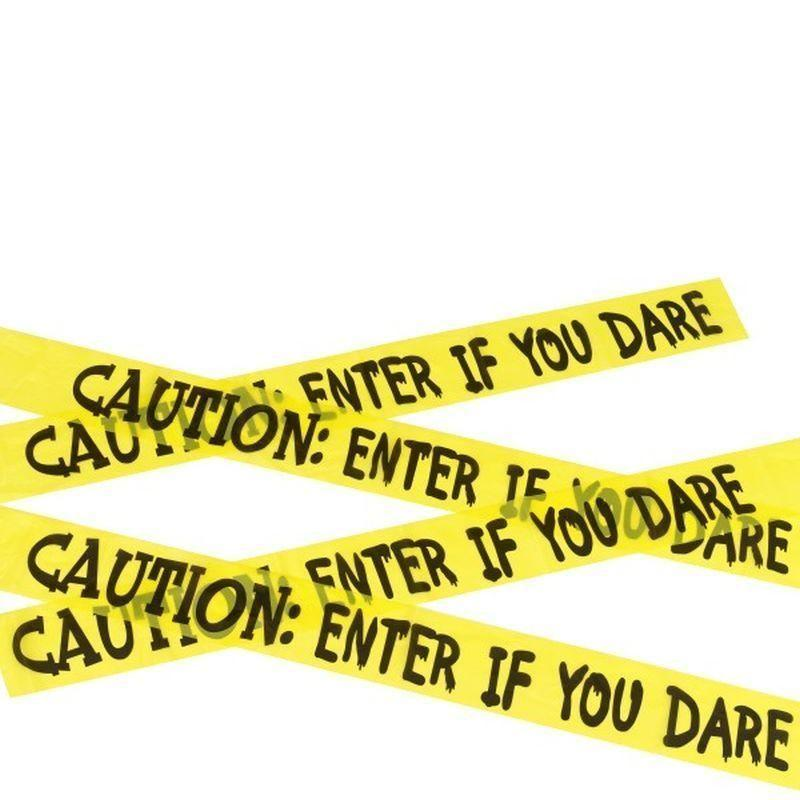 Caution Enter If You Dare Tape Adult Yellow/black - Halloween Costumes & Accessories Mad Fancy Dress