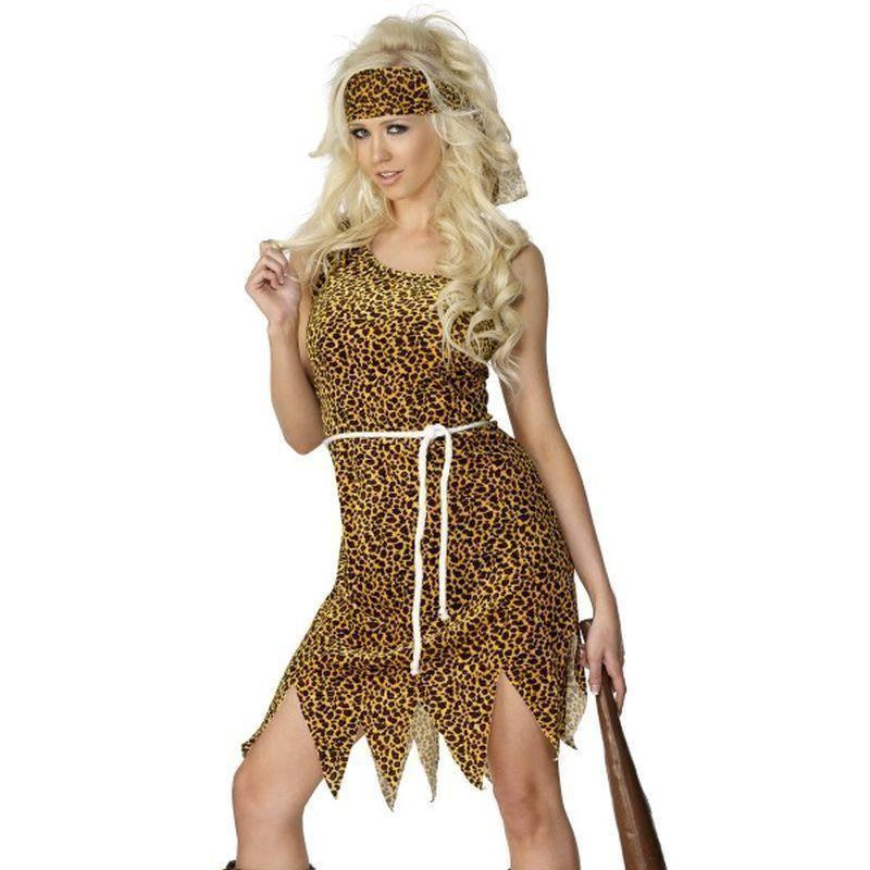 Cavewoman Costume Adult Brown - Caveman & Women Mad Fancy Dress